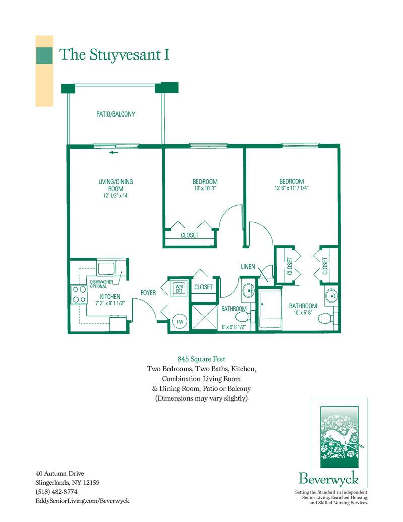 Floor Plans Eddy Senior Living Communities
