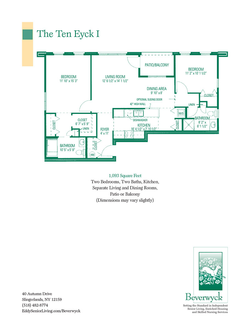 Spacious Floor Plans For Beverwyck S 1 And 2 Bedroom