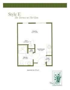 Terrace at The Glen Floor Plans Style E