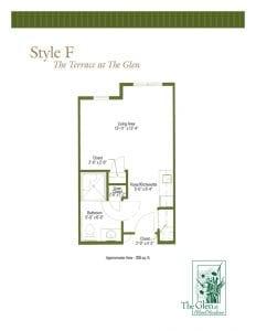Terrace at The Glen Floor Plan Style F