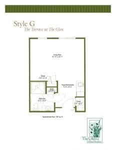 Terrace at The Glen Floor Plans Style G