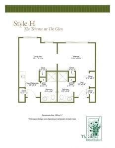 Terrace at The Glen Floor Plans Style H