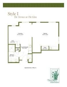 Terrace at The Glen Floor Plans Style I