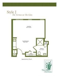 Terrace at The Glen Floor Plans Style J