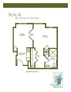 Terrace at The Glen Floor Plans Style K