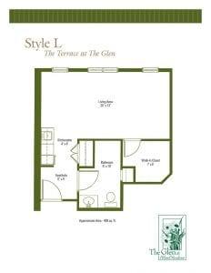 Terrace at The Glen Floor Plans Style L