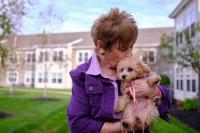 Hawthorne Ridge resident and her dog