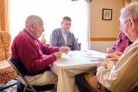 Hawthorne Ridge residents playing cards