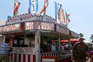 Food vender at the fair
