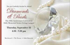 Invitation for the Diamonds and Pearls, 30th anniversary celebration.