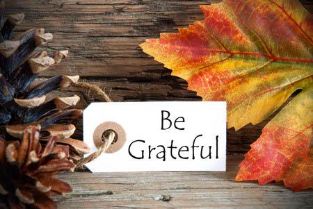 Be grateful, be happy