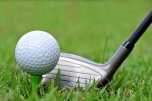 Golf club with golf ball