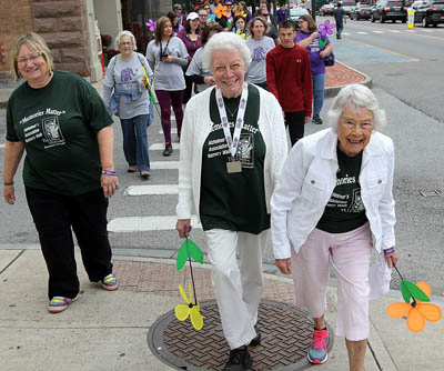 Seniors on Volunteer Walk