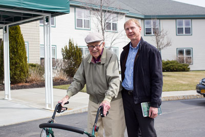 Father and Son Touring Assisted Living
