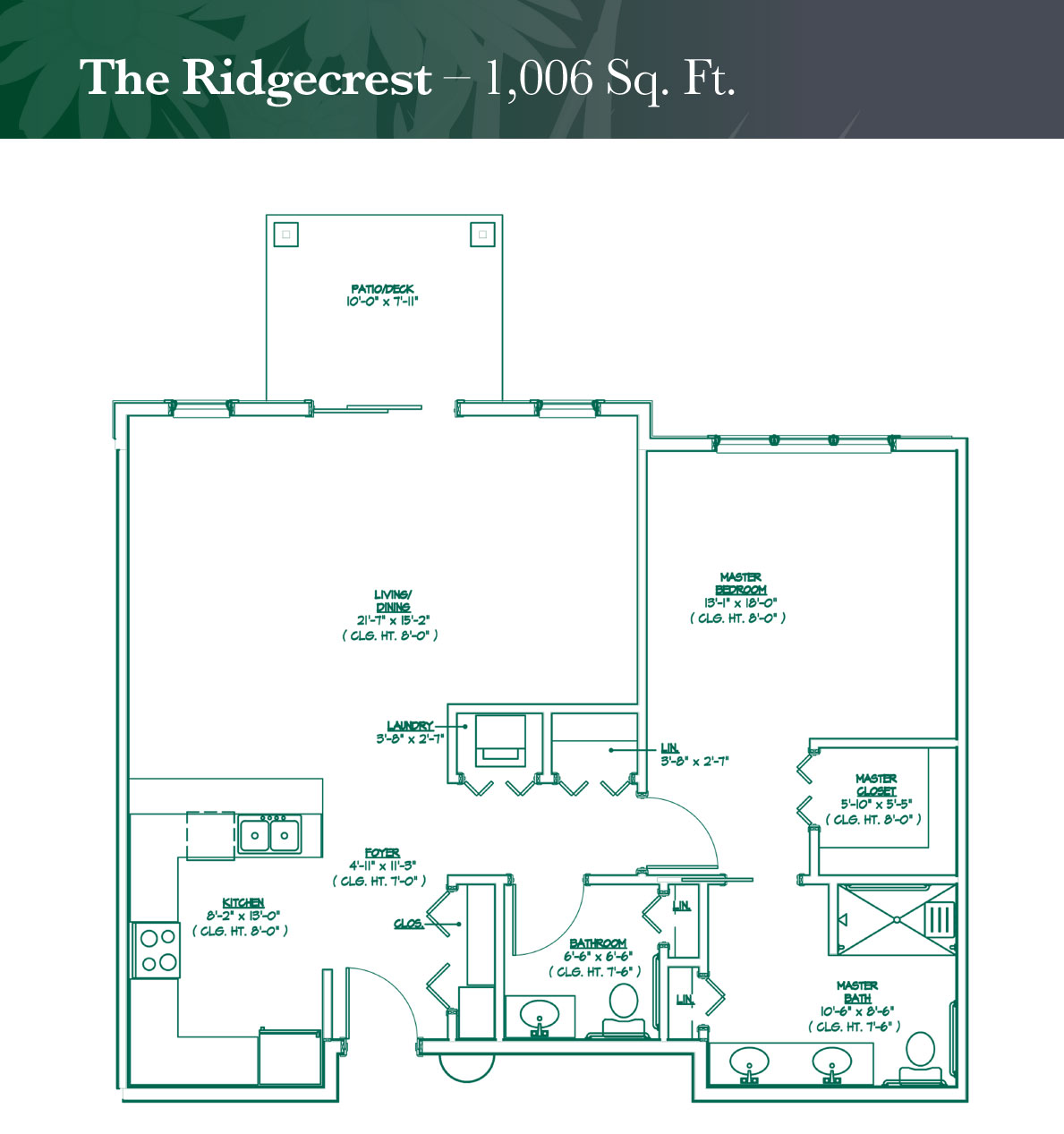 The Ridgecrest floorplan